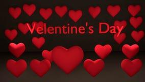 El día de tarjeta del día de San Valentín con los corazones Imágenes de archivo libres de regalías
