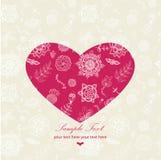 El día de tarjeta del día de San Valentín de tarjeta de felicitación Imágenes de archivo libres de regalías