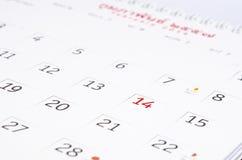 El día de tarjeta del día de San Valentín del calendario. Fotos de archivo