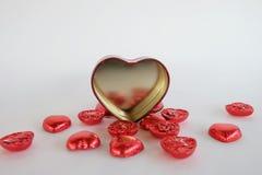 El día de tarjeta del día de San Valentín del corazón del chocolate Fotografía de archivo libre de regalías