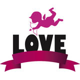 El día de tarjeta del día de San Valentín del cupido Fotografía de archivo libre de regalías