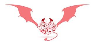 El día de tarjeta del día de San Valentín del diablo ilustración del vector