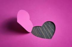 El día de tarjeta del día de San Valentín del diseño foto de archivo