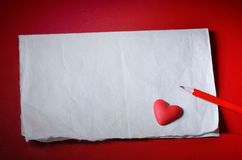 El día de tarjeta del día de San Valentín del fondo fotografía de archivo libre de regalías