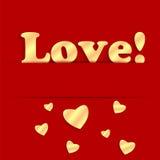 El día de tarjeta del día de San Valentín del fondo Imágenes de archivo libres de regalías