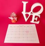 El día de tarjeta del día de San Valentín del santo - 14 de febrero Foto de archivo