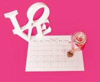 El día de tarjeta del día de San Valentín del santo - 14 de febrero Imagen de archivo