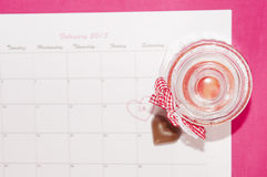 El día de tarjeta del día de San Valentín del santo - 14 de febrero Fotografía de archivo