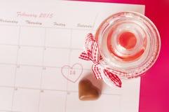 El día de tarjeta del día de San Valentín del santo - 14 de febrero Imagenes de archivo