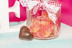 El día de tarjeta del día de San Valentín del santo - 14 de febrero Fotografía de archivo libre de regalías
