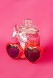 El día de tarjeta del día de San Valentín del santo - 14 de febrero Imágenes de archivo libres de regalías