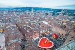 El día de tarjeta del día de San Valentín en Verona, Italia Imagenes de archivo