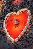 El día de tarjeta del día de San Valentín en Verona, Italia Foto de archivo