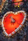 El día de tarjeta del día de San Valentín en Verona, Italia Imágenes de archivo libres de regalías