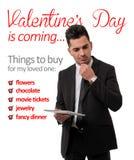 El día de tarjeta del día de San Valentín está viniendo Fotografía de archivo libre de regalías