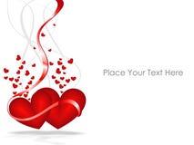 El día de tarjeta del día de San Valentín. extracto Imagenes de archivo