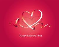 El día de tarjeta del día de San Valentín feliz Fotografía de archivo libre de regalías