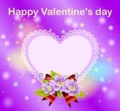 El día de tarjeta del día de San Valentín feliz Imagen de archivo libre de regalías