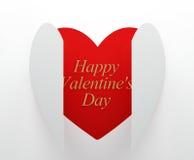 El día de tarjeta del día de San Valentín feliz Foto de archivo libre de regalías