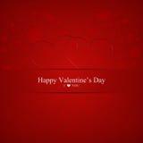 El día de tarjeta del día de San Valentín feliz Imagenes de archivo