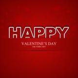 El día de tarjeta del día de San Valentín feliz Fotografía de archivo