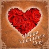El día de tarjeta del día de San Valentín feliz Imágenes de archivo libres de regalías