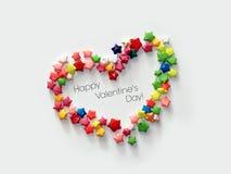 El día de tarjeta del día de San Valentín feliz #03 Foto de archivo