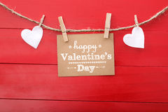 ¡El día de tarjeta del día de San Valentín feliz! Foto de archivo