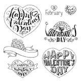 ¡El día de tarjeta del día de San Valentín feliz! Fotografía de archivo
