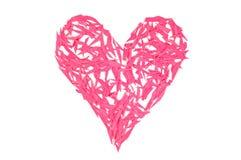 ¡El día de tarjeta del día de San Valentín feliz! Corazón rojo hecho de pequeñas paces del papel fotografía de archivo libre de regalías