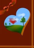 El día de tarjeta del día de San Valentín feliz de la postal Fotos de archivo libres de regalías