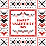 El día de tarjeta del día de San Valentín feliz de la postal Imagen de archivo