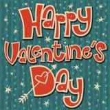 El día de tarjeta del día de San Valentín feliz de la tarjeta verde oscuro libre illustration
