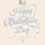 El día de tarjeta del día de San Valentín feliz - letras EPS 10 Foto de archivo