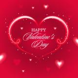 El día de tarjeta del día de San Valentín feliz, tarjeta con el corazón Imagen de archivo