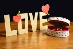 El día de tarjeta del día de San Valentín hermoso de la composición Fotos de archivo