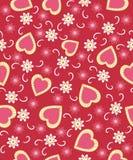 El día de tarjeta del día de San Valentín inconsútil, modelo Imagen de archivo