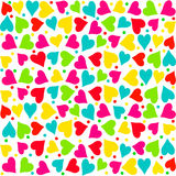 El día de tarjeta del día de San Valentín inconsútil, modelo Fotos de archivo libres de regalías