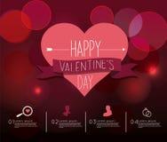 El día de tarjeta del día de San Valentín Infographic Imagen de archivo