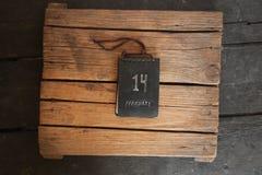 El día de tarjeta del día de San Valentín o idea del 14 de febrero Fotos de archivo libres de regalías