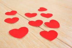 El día de tarjeta del día de San Valentín para su texto. Foto de archivo libre de regalías