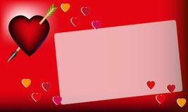 El día de tarjeta del día de San Valentín, tarjeta Foto de archivo