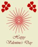 El día de tarjeta del día de San Valentín feliz, con el tono medio del corazón foto de archivo libre de regalías