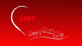 El día de tarjeta del día de San Valentín feliz - palabras en un corazón abierto lleno de amor ilustración del vector