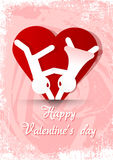 El día de tarjetas del día de San Valentín desea 2 Foto de archivo