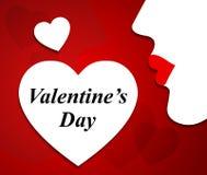 El día de tarjetas del día de San Valentín indica la tarjeta del día de San Valentín y a la esposa del amante stock de ilustración