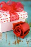 El día de tarjetas del día de San Valentín se levantó Fotografía de archivo libre de regalías