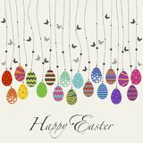 El día del diseño de la cubierta carda Pascua feliz ilustración del vector