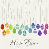 El día del diseño de la cubierta carda Pascua feliz stock de ilustración