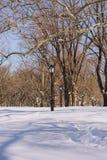 El día después de la tormenta más grande de la nieve de Nueva York Fotografía de archivo